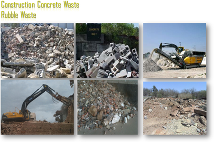 Mobile Crusher for Crushing Concrete Waste, Construction Rubble, Demolition waste